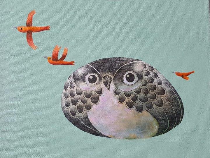 画板上的石头鹰